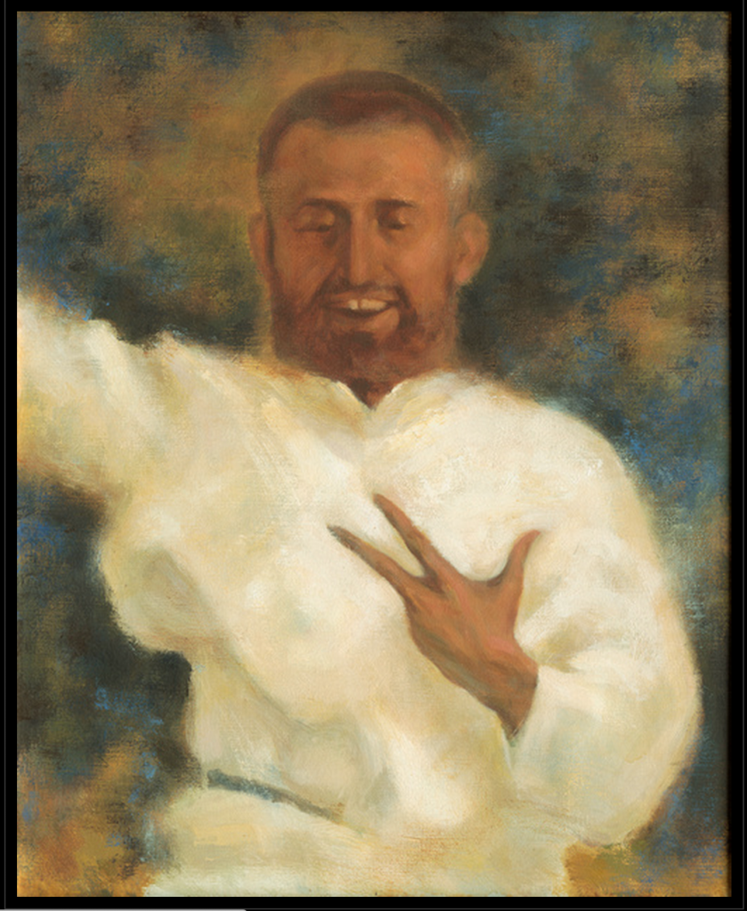 Sri Ramakrishna, painted by Swami Tadatmananda