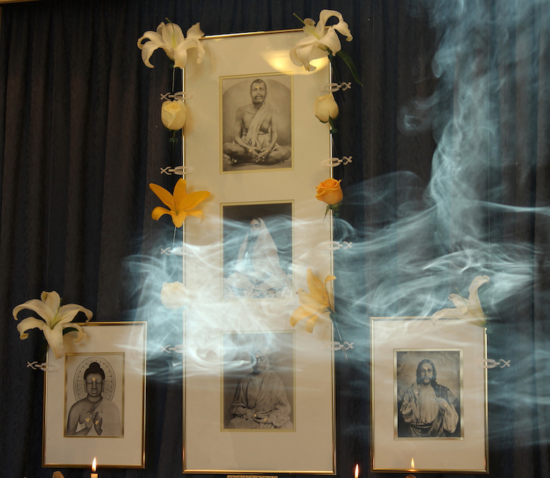 VCA shrine photos with incense