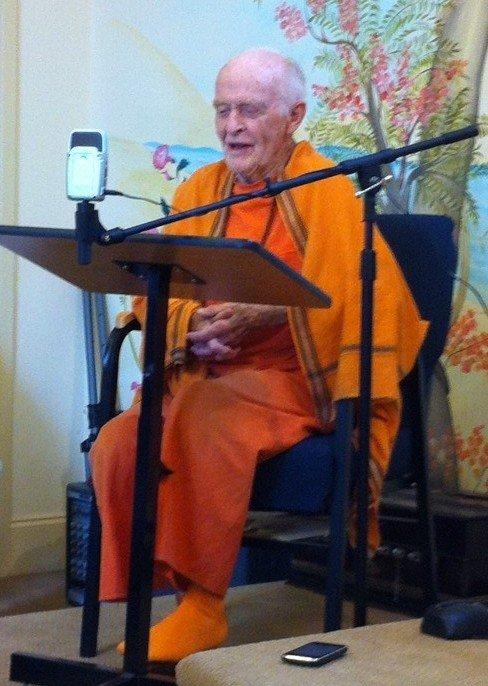 Swami Yogeshananda, July 7, 2013, Vedanta Center of Atlanta