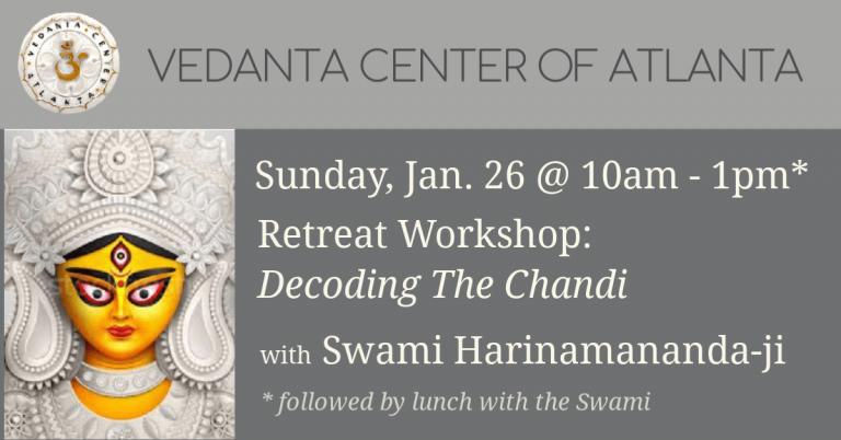 Workshop: Decoding the Chandi with Swami Harinamananda