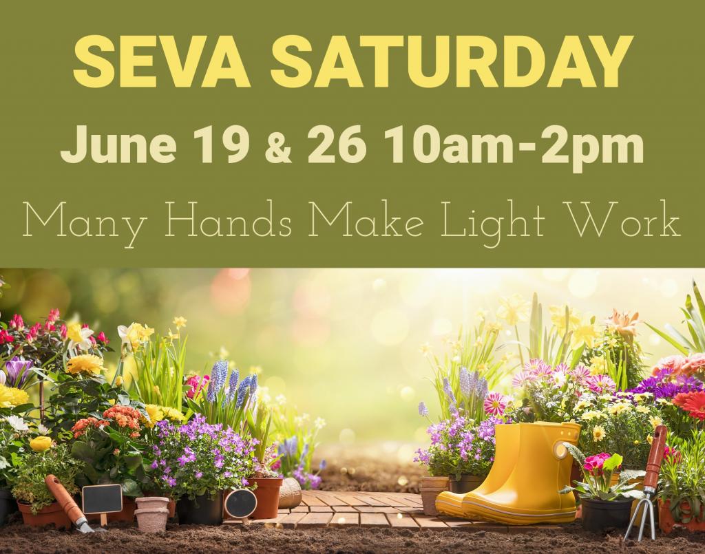 Seva Saturdays for June